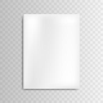 Revista de capa em branco de maquete de vetor em branco sobre fundo cinza