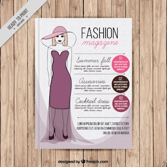 Revista de moda tampa com um modelo