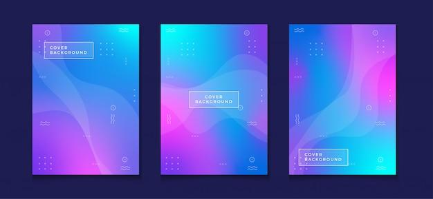 Revista de modelo de design de capa de gradiente