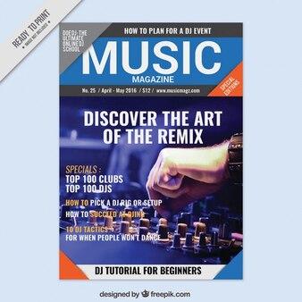 Revista de música com uma capa de imagem