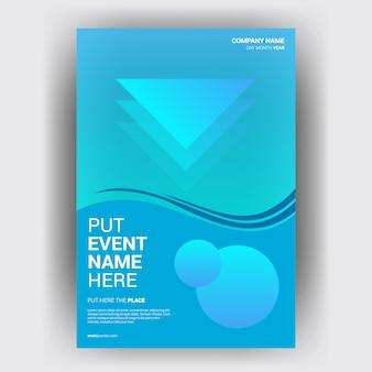 Revista de negócios brochura com conceito geométrico de layout