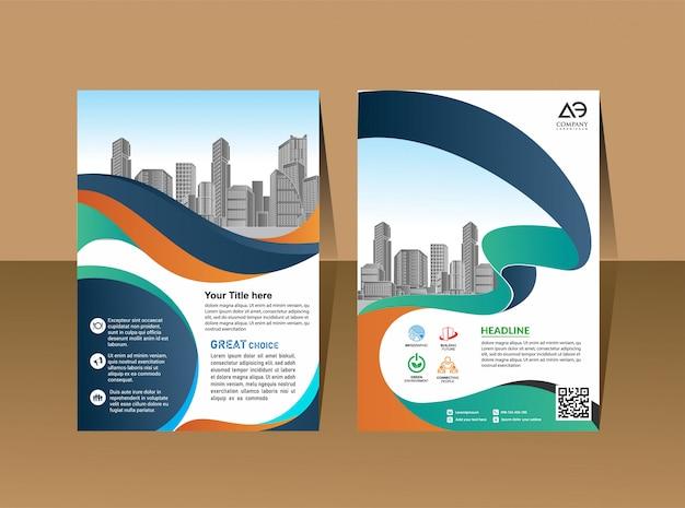 Revista de perfil de empresa cartaz relatório anual & capa de livreto