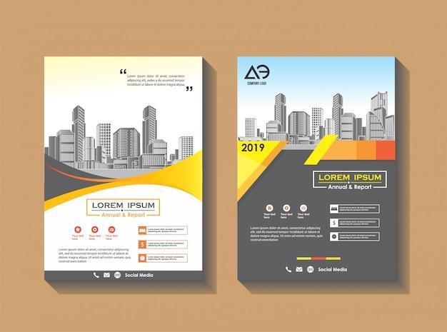 Revista de perfil de empresa modelo de folheto de negócios