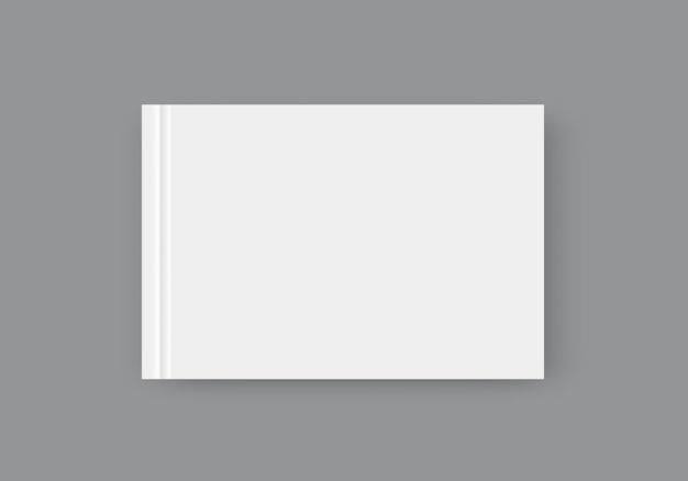 Revista de vetor em branco sobre fundo cinza. modelo para design