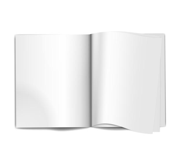 Revista em branco aberta