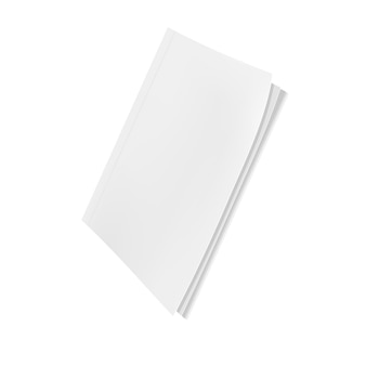 Revista em branco modelo