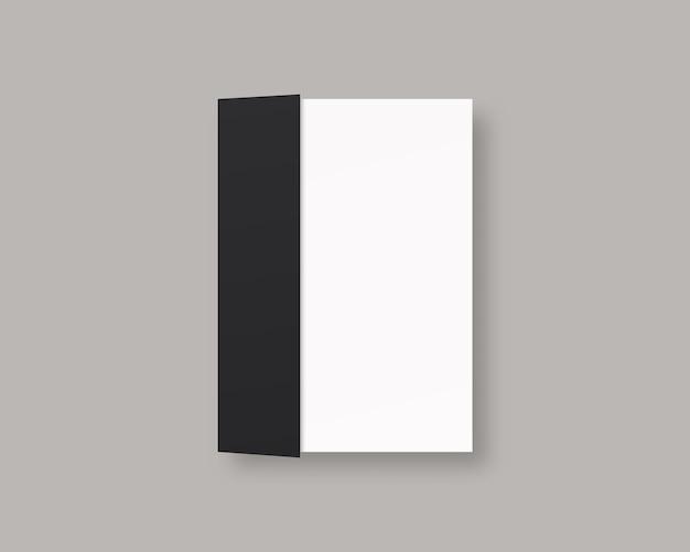 Revista em branco ou capa de livro. livro fechado realista. isolado. modelo de design. ilustração realista.