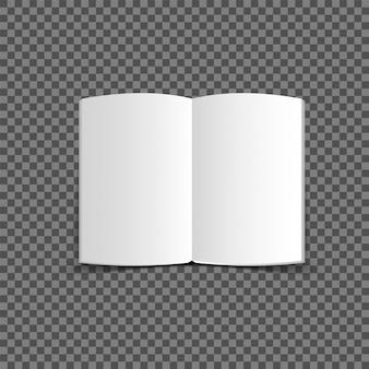 Revistas com maquete de páginas de papel branco enrolado