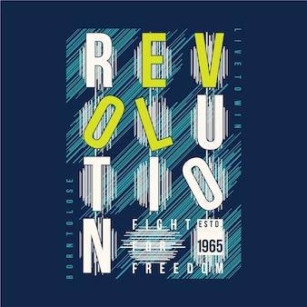 Revolução texto tipografia gráfica
