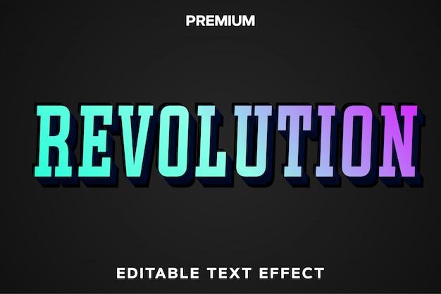 Revolution - efeito de texto no estilo do título do jogo premium