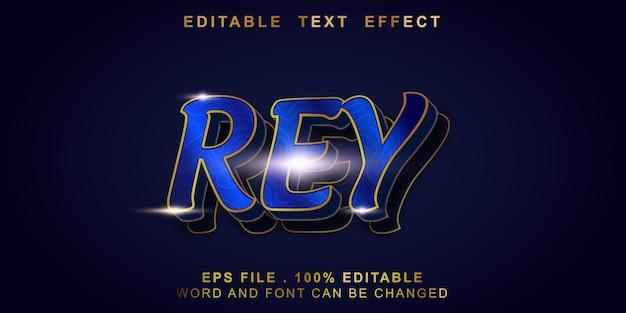 Rey efeito de texto editável