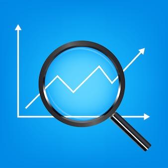 Rgbblack básico ampliar vetor de gráfico de ações de análise de vidro