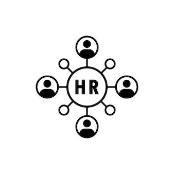 Rh, pessoal, ícone de gestão. ícone de mudança de pessoal. pessoas em símbolo de ciclo redondo. conceito de recursos humanos. vetor eps 10. isolado no fundo branco