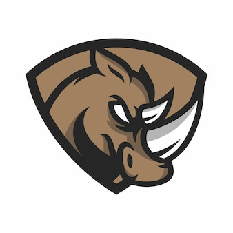 Rhino - vetor logotipo / ícone ilustração mascote