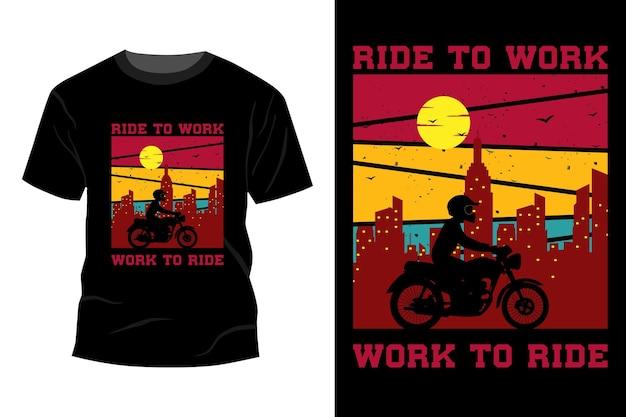 Ride to work t-shirt design vintage retro