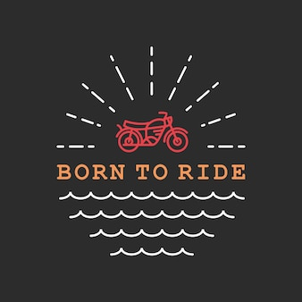 Riding to the sun monoline illustration
