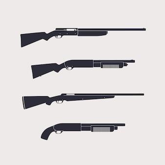 Rifles de caça, espingardas, carabina, isolados