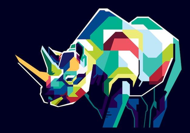 Rinoceronte colorido