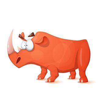 Rinoceronte de personagens de desenhos animados
