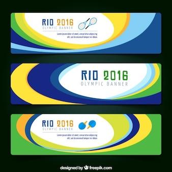 Rio 2016 bandeiras com círculos cores