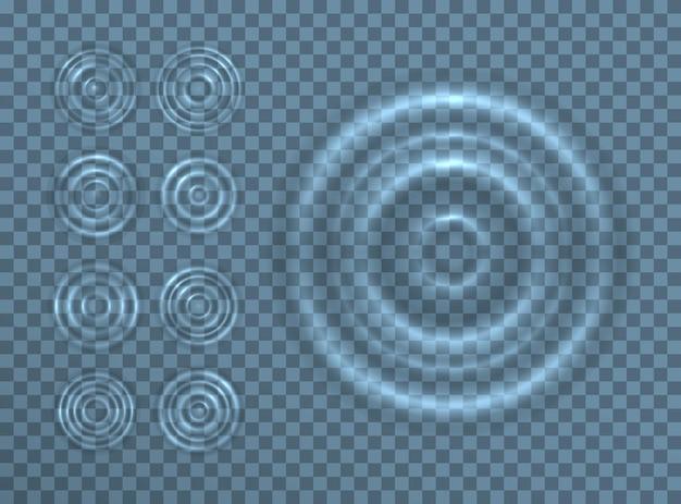 Ripple splash de ondas de água na superfície de uma gota.
