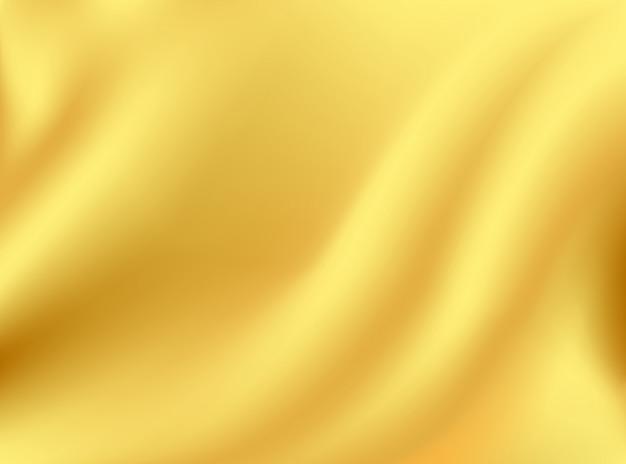 Rippling seda ouro e pano tecido vinco no conceito de design