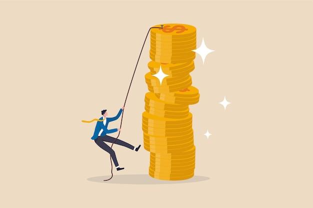 Risco do investidor para fazer ilustração de lucro