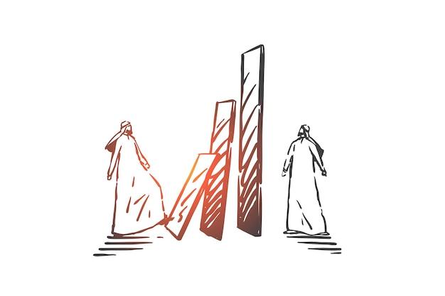 Rivalidade de negócios, ilustração do conceito de competição