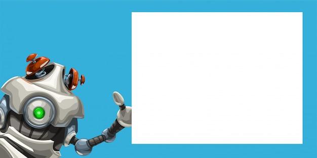 Robô bonitinho com quadro branco