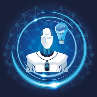 Robô com inteligência artificial