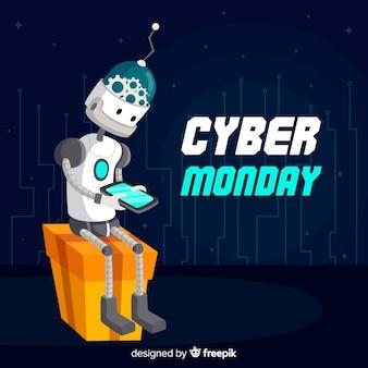 Robô cyber segunda-feira