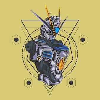 Robô de batalha geometria sagrada