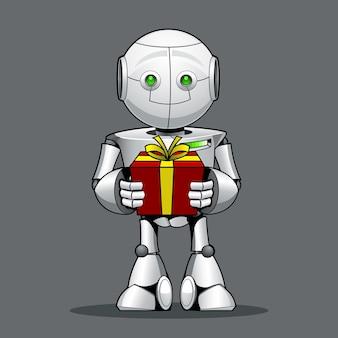 Robô de criança engraçada
