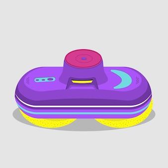 Robô de limpeza de vidro multicolorido. ilustração vetorial plana.