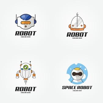 Robô de tecnologia inteligente futuro design de logotipo