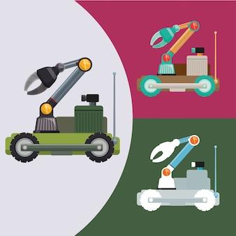 Robô e design de tecnologia