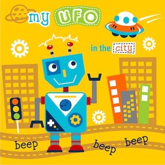 Robô e ufo