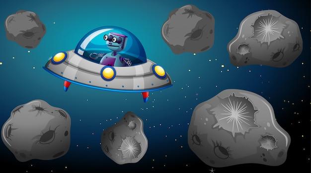 Robô em nave espacial