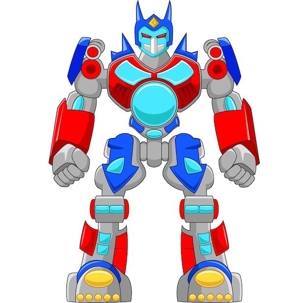 Robô forte dos desenhos animados e colorido