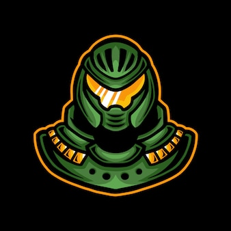 Robô mascote jogos logotipo esport