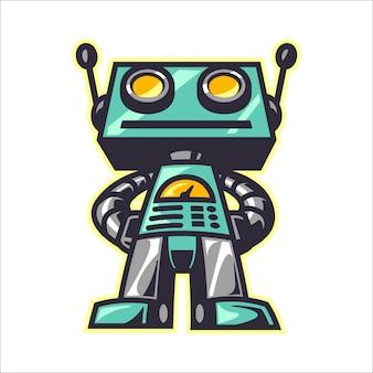 Robô retrô dos desenhos animados