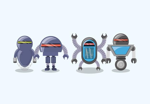 Robôs diferentes