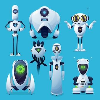 Robôs do futuro, personagens alienígenas robóticos ou andróides.