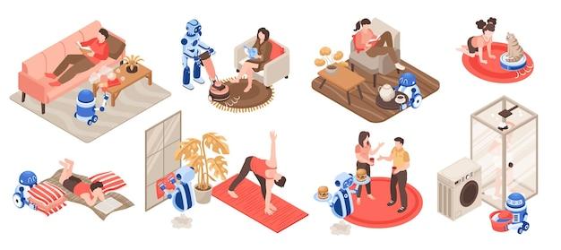 Robôs limpando em casa