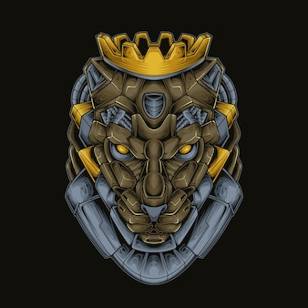 Robótico king panther head