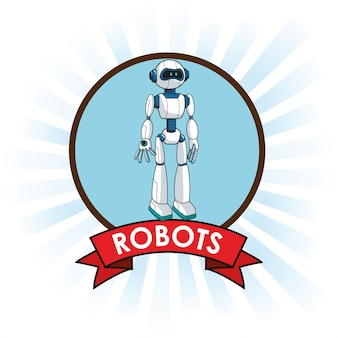 Robots android technology futuristic banner