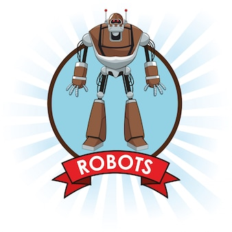 Robots science science future banner