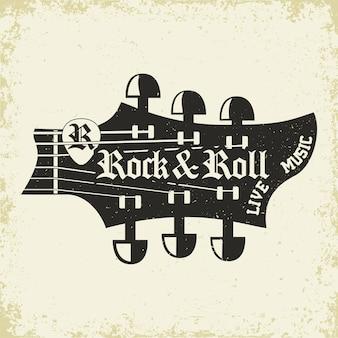 Rock music print rock-music tee impressão carimbo design