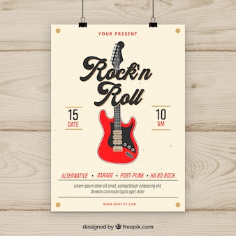Rock n roll music party flyer