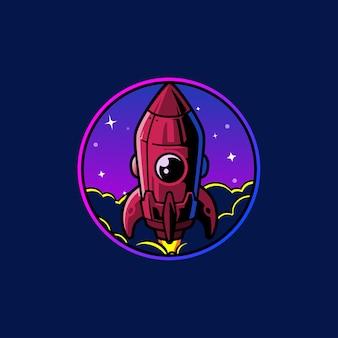 Rocket fly ciência do vôo da galáxia espacial
